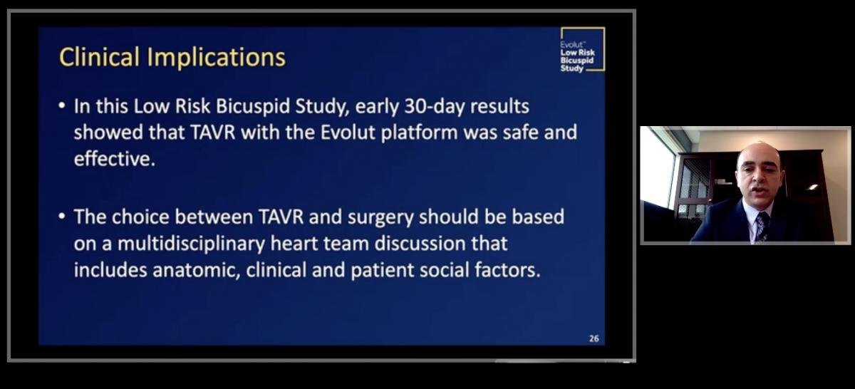The implications of bicuspid aortic valves and the use of TAVR. #ACC20 #ACC2020