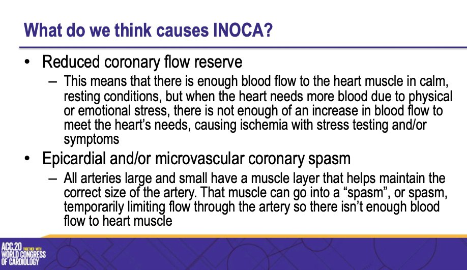 What are the causes of INOCA? #ACC20 #ACC2020