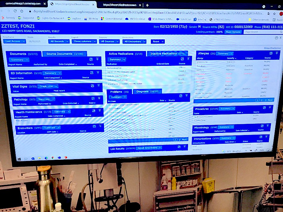 Cerner highlighted a deep integration with third-party vendor Quera in the in the interoperability theater area at HIMSS. The partners connected data from several disparate systems in a healthcare system to create a single view of a heart transplant patient's data for case review and ongoing care of that patient.