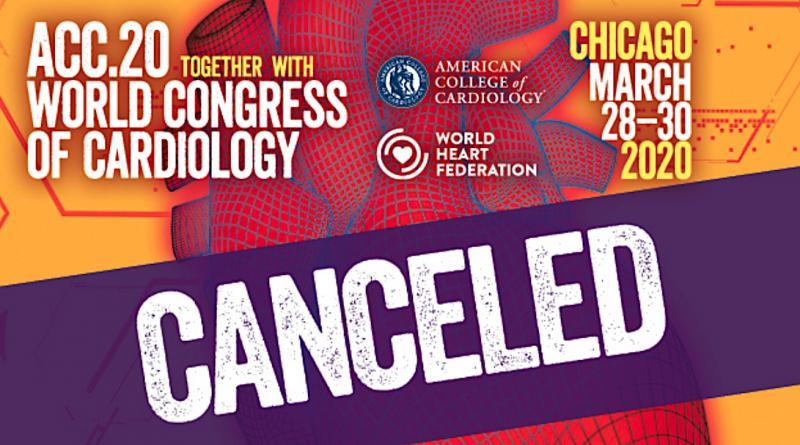 ACC Cancels 2020 Conference Amid Coronavirus Concerns. #COVID19 #coronavirus #2019nCoV