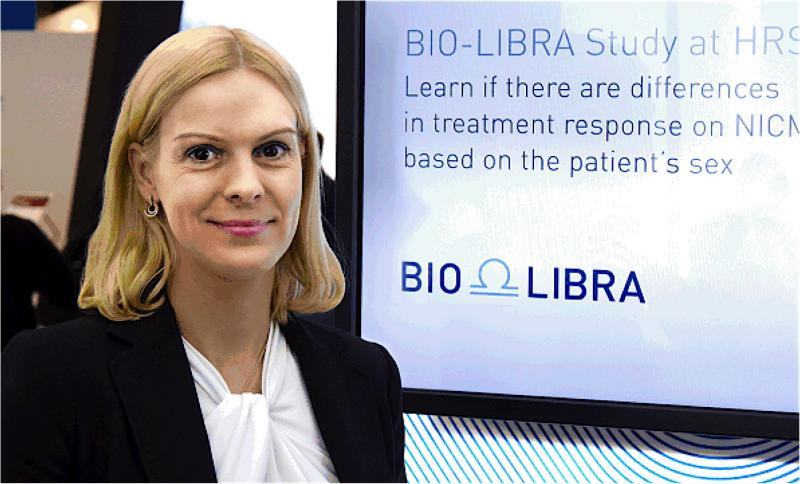 Valentina Kutyifa, M.D., Ph.D., University of Rochester Medical Center, Rochester, N.Y., is doing research in the BIO-LIBRA Study to determine it ICD or CRT-D devices work better in men or women with heart failure often present with non-ischemic cardiomyopathy.