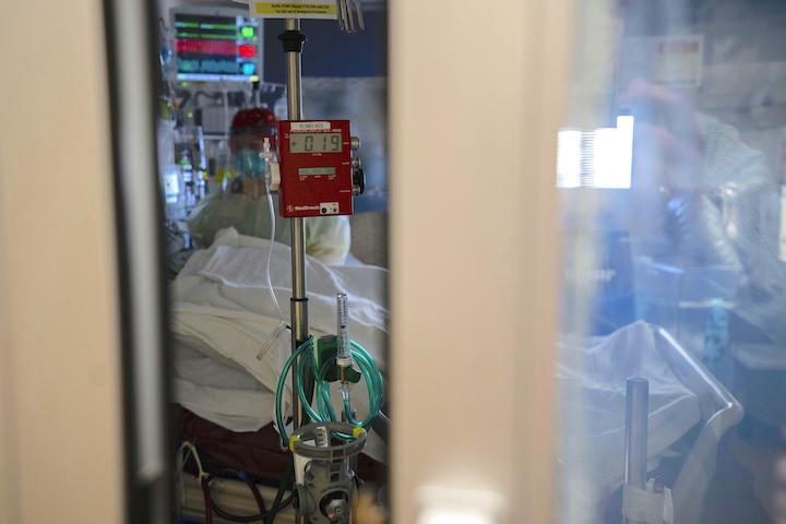 ECMO unit in use to support a severely ill patient at the University of Michigan. ECMO was shown to imporve survival and neuro outcomes in sudden cardiac arrest patients who do not respond to standard therapy.