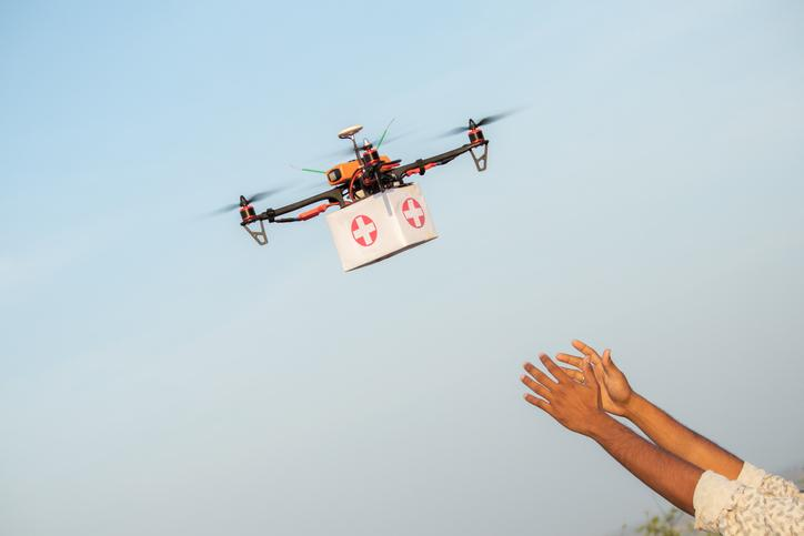 Drones Could Deliver Defibrillators or AEDs to sudden Cardiac Arrest Victims Faster Than Ambulances. Getty Images