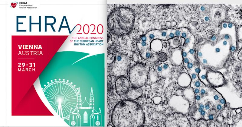 The European Heart Rhythm Association (EHRA) electrophysiology (EP) annual meeting cancelled due to coronavirus. #COVID19 #coronavirus #2019nCoV