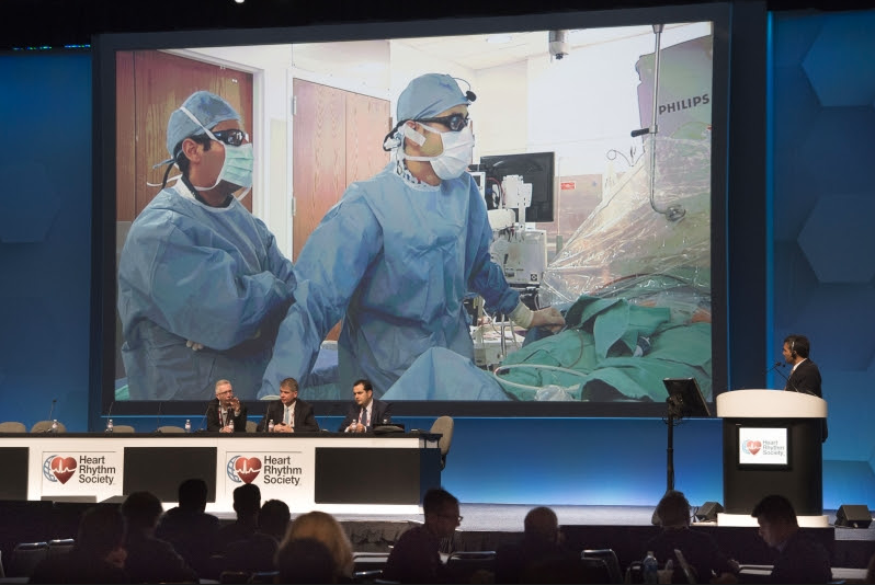 Heart Rhythm Society (HRS) live electrophysiology (EP) procedure case at the 2018 annual meeting. #HRS2018