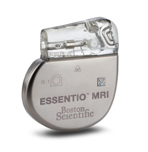 The Boston Scientific Essentio MRI-safe pacemaker.