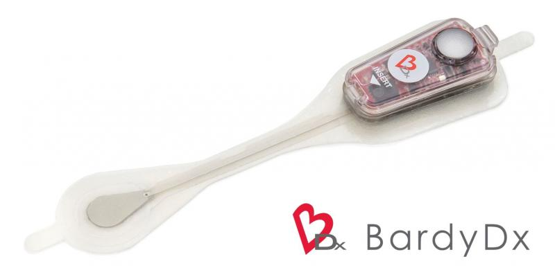 The BardyDx Carnation Ambulatory Monitor (CAM) is a P-wave centric wearable ambulatory cardiac patch monitoring and arrhythmia detection device.