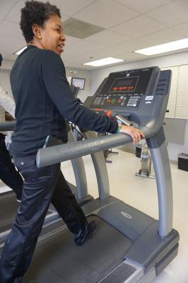 Congestive heart failure patient Dorothy Moore committed herself to cardiac rehabilitation and increasing the amount of exercise she did and was able to reverse her heart failure class. She was a patient at the DMC Sinai-Grace Hospital in Detroit.