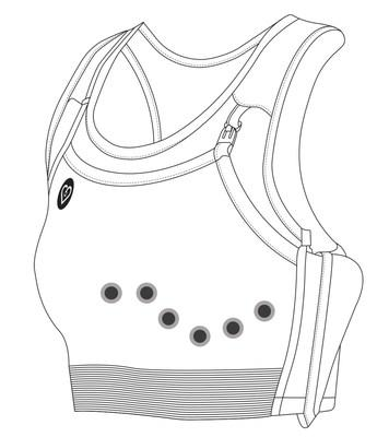 CardioBra is a two-part system, uniquely designed to work with Claravue electrodes by Nissha Medical Technologies. CardioBra used with Claravue reinforces electrode adherence and promotes ECG lead placement under the breast with added support. Claravue's low-profile pre-wired design eliminates the pinch clips allowing for a comfortable fit. Womens heart health. Female stress testing.
