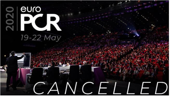 EuroPCR Cancels Annual Meeting Due to COVID-19. #SARScov2 #COVID19
