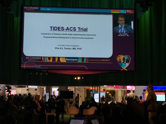 The TIDES-ACS results show us that the Optimax stent is noninferior in patients with acute coronary syndrome compared to Synergy.