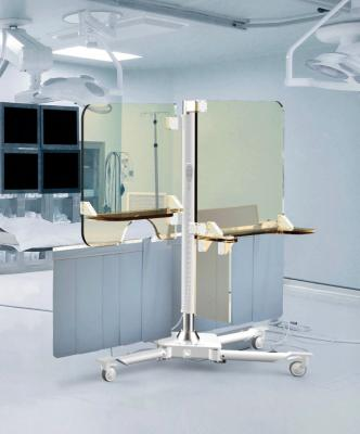 The Rampart iC radiation protection shield for interventional cardiologists in the cath lab.