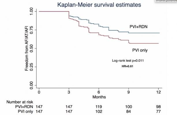The ERADICATE-AF Trial combined pulmonary vein isolation with renal denervation therapy and showed imporve outcomes.