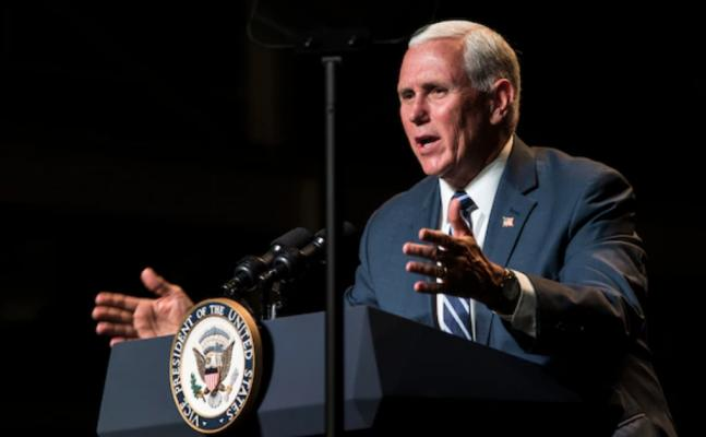Former Vice President Mike Pence. Photo by Airman 1st Class Aubree Owens, 30th Space Wing Public Affairs