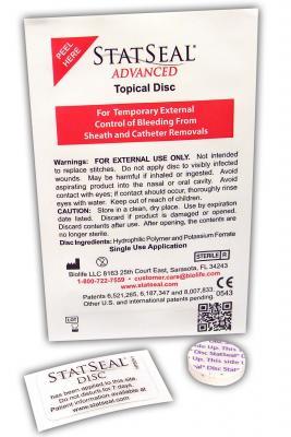 Hemostasis Biolife StatSeal Advanced Disc Cath Lab