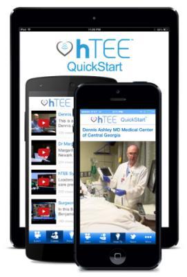 ImaCor hTEE QuickStart Mobile App Cardiovascular Ultrasound Transeosophageal TEE