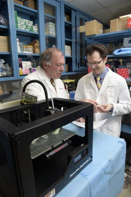 A 3-D printer in use to create anatomical models of complex patient anatomy at North Shore-LIJ Health System Feinstein Institute for Medical Research,Manhasset, N.Y. 3-D printing, 3D printing in medicine