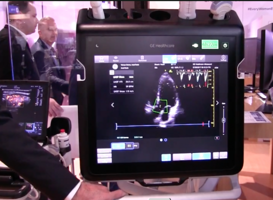 GE Healthcare rolled out its first implementation of AI in its ultrasound systems, starting with its new point-of-care Venue system. RSNA 2017, #RSNA2017, #RSNA17