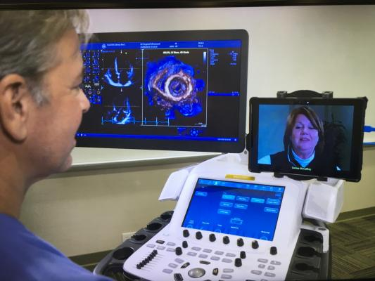 In the era of COVID-19, remote technical assistance has become big deal. GE Healthcare showed its Digital Expert technology at the ASE 2020 virtual meeting, which allows remote one-on-one echo training or ultrasound machine technical assistance. It became an important service for GE since the start of the pandemic.