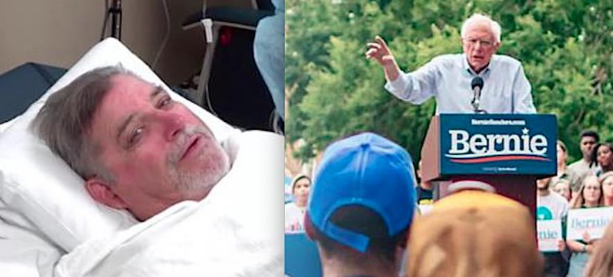Former National Football League (NFL) player Ed White (left) needed a new aortic heart valve but decided to wait several months for the FDA to approve TACR for low-risk patients so he would not have to undergo open heart surgery. Democratic presidential candidate Sen. Bernie Sanders received two stents after he was hospitalized with chest pain was hospitalized with chest pain on Oct. 1 in Las Vegas. The event brought PCI to the forefront of national news in October.