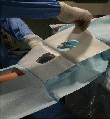 Radial access, transradial access, radial artery access, drapes, drape