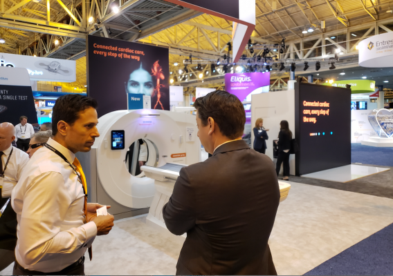At #ACC.19, Siemens unveiled a version of its go.Top platform optimized for cardiovascular imaging. The newly packaged scanner can generate the data needed to do CT-based FFR (fractional flow reserve).