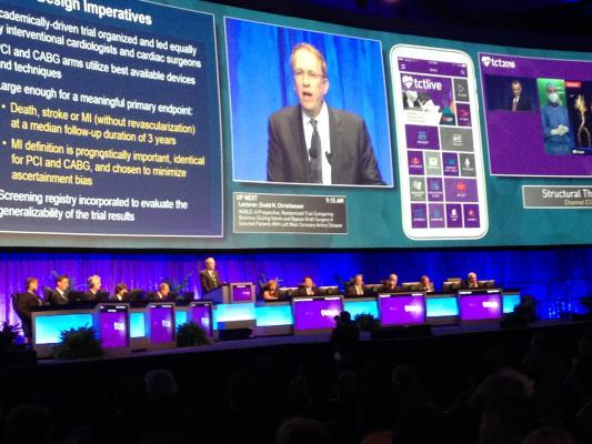 EXCEL Trial, TCT 2016, drug-eluting stents, CABG, surgery left main heart disease, LMCAD