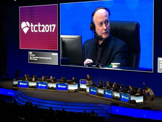 cardiologist Ted Feldman, M.D., at TCT 2017.
