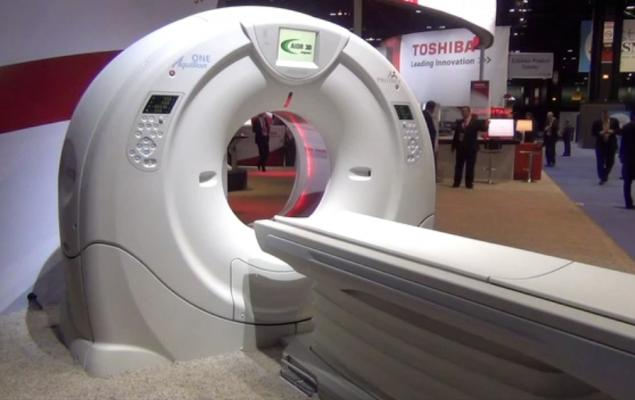 Toshiba unveiled a 640-slice CT scanner, the Aquilion One Vision.