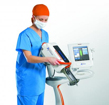 Bayer Arterion contrast Injector used to administer medical imaging contrast for CT scans.
