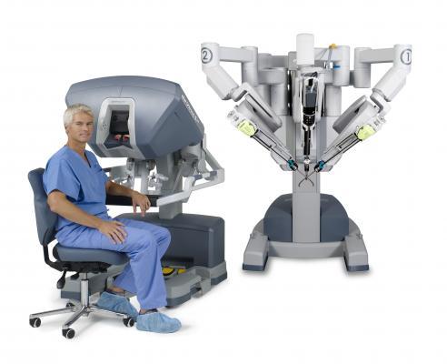 a Vinci surgical robotic system