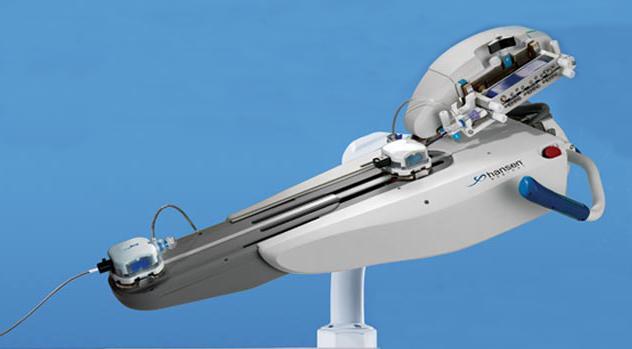 Hansen, robotic system, peripheral vascular robot, Magellan