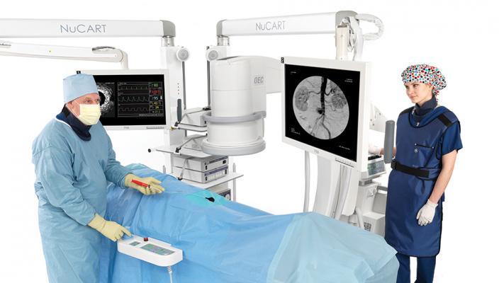 NuCART, CompView Medical, mobile boom system, cath lab, hybrid OR