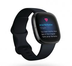 Fitbit Sense is the company's first device compatible with an ECG app that enables users to take a spot check reading of their heart that can be analyzed for the heart rhythm irregularity atrial fibrillation (AFib).