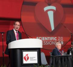 "John J. V. McMurray presenting the DAPA-HF Trial at AHA 2019. It was part of the late-breaking presentations in the ""Outside the Box: New Approaches to CVD Risk Reduction"" session."