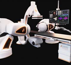 The Stereotaxis Genesis EP robotic navigation system.
