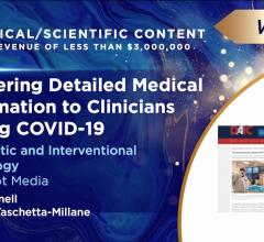 Image from the announcement of the Neal award winner of best technical content for DAIC's coverage of COVID-10 related to cardiology at the Neal virtual award ceremony June 9.
