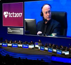 cardiologist Ted Feldman, M.D., at TCT 2017. #TCT2018 #TCT #TCT18 TCT Late breaking trials, studies.