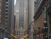 The heart of normally bustling downtown Chicago showing deserted streets at rush hour Tuesday, March 24. The view is down LaSalle Street with the Chicago Board of Trade building at the end of the street. Photo by Mike Augle. #coronavirus #COVID19