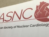 The American Society of Nuclear Cardiology, ASNC, logo on display at the society's 2019 annual meeting. #ASNC #ASNC19