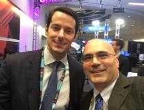 "#TCT2019 #TCT #TCT19 Philippe Genereux, M.D., (left) co-director of the structural heart program at the Gagnon Cardiovascular Institute at Morristown Medical Center, part of Atlantic Health System, with DAIC Editor Dave Fornell at TCT 2019. Among the sessions Genereux was involved in was how to close large bore access sites. Here is a <a href=""https://www.dicardiology.com/videos/video-how-achieve-hemostasis-large-bore-device-access""> VIDEO interview with him on that topic.</a>"