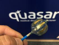 "#TCT2019 #TCT #TCT19 Electrophysiology ablation balloon catheter made my the OEM company Quasar for Biosense Webster. The irrigated balloon ablation catheter was one of the hottest technologies at the Heart Rhythm Society (HRS) meeting this year. <a href=""https://www.dicardiology.com/content/first-patient-treated-stellar-atrial-fibrillation-ide-study""> Read more about the Heliostar Multi-electrode RF Balloon Ablation Catheter.</a>"