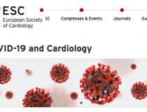 The European Society of Cardiology (ESC) COVID-19 resource page on its website in mid-April 2020. Nearly all the cardiovascular societies have created virus resource pages where clinicians can find needed medical information. Patients with cardiac comorbitities have the highest mortality rate among COVID-19 patients, so cardiology departments have become involved in the care of these patients.