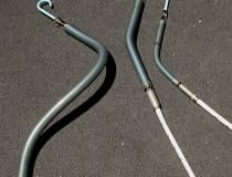 A side-by-side comparison, left to right, of the Impella RP right ventricular support device, Impella 5.5, and the Impella CP.