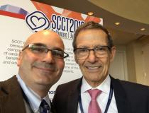 DAIC Editor Dave Fornell and Daniel Berman, M.D., FACC, chief of cardiac imaging and nuclear cardiology and professor of imaging, Cedars-Sinai Medical Center. #SCCT #SCCT2019