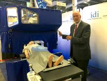 #TCT2019 #TCT #TCT19 A new X-ray radiation protection system for the cath lab that uses movable lead drapes and windows to see the patient. It was being displayed by Imaging Diagnostics Inc. and it was discussed in sessions concerning how to lower staff dose in the cath lab.
