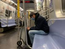 An empty New York City subway car in Manhattan during rush hour in late March. Millions abided by shelter-in-place and work-from-home orders in New York in an effort to contain the virus and the largest city in the United States became a ghost town within a short period. Photo by Mike Borchardt. #COVIS19 #coronavirus #SARScov2