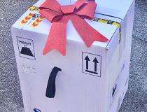 The staff at Pardee Hospital University of North Carolina Health Care put a bow on the first box of first Pfizer COVID-19 vaccine they received December 15, 2020, as an early Christmas present. The hospital began vaccinating its hospital staff December 15, shortly after the FDA cleared the first COVID vaccine. Read more