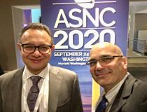 "Rami Doukky, M.D., FASNC, professor of medicine, preventive medicine and radiology, and chief of the Division of Cardiology at Cook County Health and Hospitals System, with DAIC Editor Dave Fornell at 2019 ASNC meeting. Doukky speaking in several sessions on the value of PET imaging. Here is an <a href=""https://www.dicardiology.com/videos/video-asnc-2018-program-preview""> interview with Doukky about the 2018 ASNC meeting.</a>  #ASNC #ASNC19 #ASNC2019"