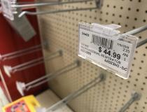 The shelves were emptied of any types of face masks and respirators at local hardware stores across the United States as of early March 2020, as people began preparing for the spread of the novel coronavirus across the United States. This was was shelf of an Ace hardware store in Elgin, Illinois, March 7, before the explosion of U.S. cases. Photo by Dave Fornell.